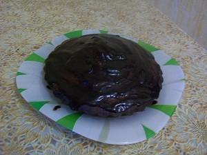 шоколадная глазурь из какао для кекса