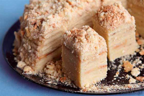 торт-наполеон-со сгущенкой-в-духовкет