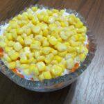 Салат Мимоза с кукурузой