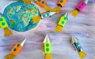 Ракета из бумаги и картона своими руками для детей: пошаговая инструкция