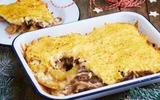 Картошка запеченная с мясом по-французски в духовке: 11 рецептов