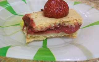 Быстрый постный пирог с ягодами