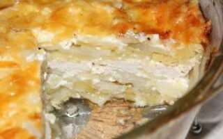 Запеканка картофельная с куриным фаршем