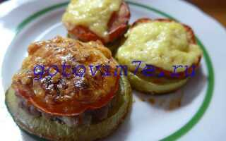 Кабачки запеченные в духовке с фаршем и помидорами