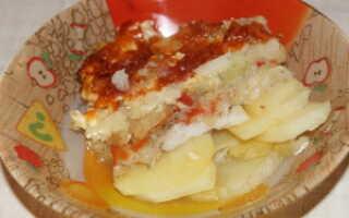 Картофель с морским языком