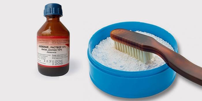 смесь зубного порошка и нашатырного спирта от потертости на дубленке