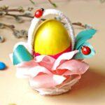 Пасхальная подставка для яиц на Пасху своими руками для детей + шаблоны