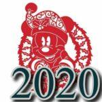 Шаблоны мышек для вырезания из бумаги на Новому году 2020 для украшения окон